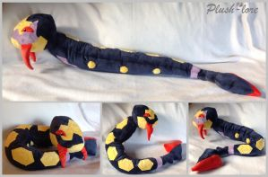 Seviper plush by Plush-Lore