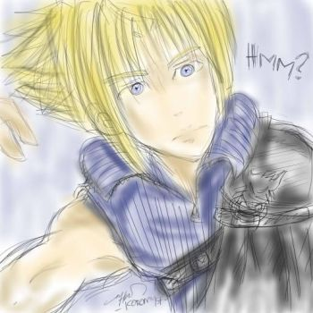 Cloud Strife sketch coloured by myst-o