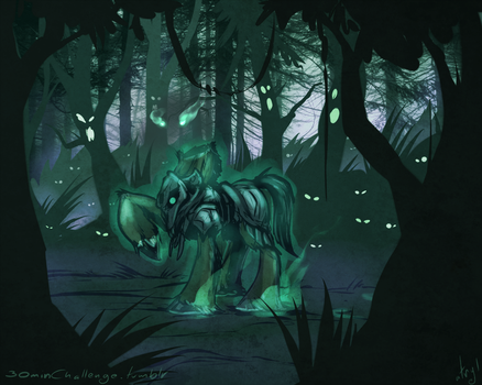 30min Challenge - The Headless Horse by atryl