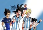 DB CHARACTERS supporting argentina nt by Sandra-delaIglesia