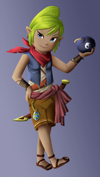 Hyrule Warriors Tetra Design by Icy-Snowflakes