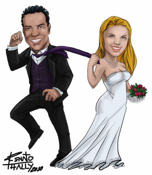 Wedding Caricature 1 by renatothally