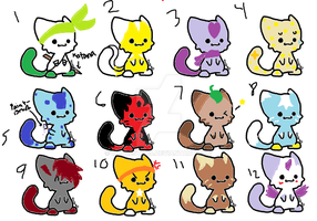 Free (Most) Cat Adoptables 2 CLOSED by maplestar8