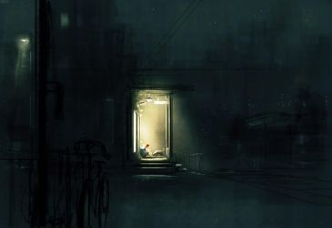 Supper on the porch. by PascalCampion