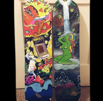 Sharpie and Cosmic Bud Board by Tricendant