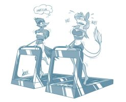 ISC: Working out hard by Levvvar