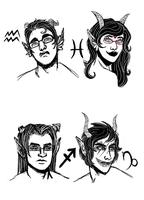 Homestuck Highbloods by katiepox