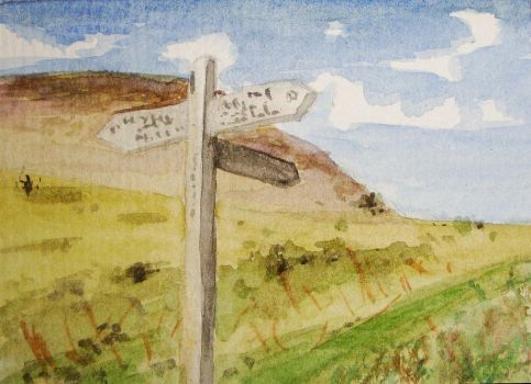 ACEO Salcombe Signpost by Milliebead