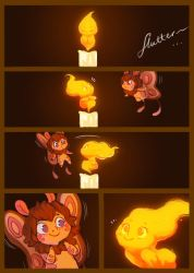 Moth and the Flame 1 by StressedJenny