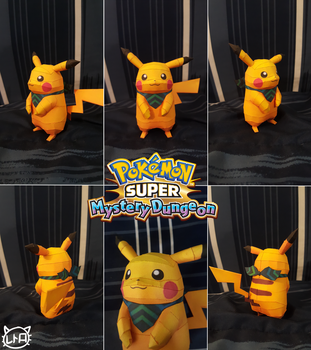 Pokemon Super Mystery Dungeon Papercraft ~ Pikachu by SuperRetroBro