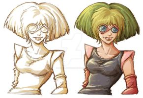 Melodia from Silverhawks animated series by RafaellaRyon