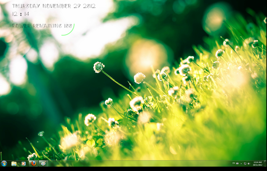 Rainmeter Green Serenity by weaselchild