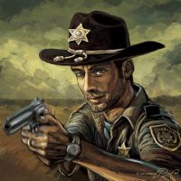 Omaggio a Rick Grimes in The Walking Dead by Panaiotis