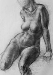 Life Figure drawing by Vangega