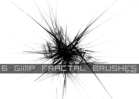 6 gimp fractal brushes. by giveshit
