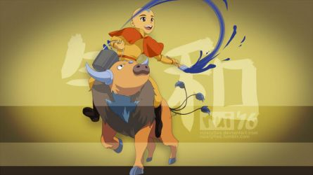 Aang and Taurus by ruistyfles