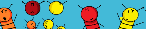 Redrawn Buzzy Bee Characters by BuzzNBen