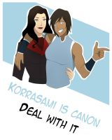 Korrasami is canon_Deal with it by ValerieOS