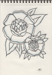 Traditional Flower Tattoo Design nr 2 by D-ragonstone