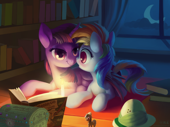Commission-A Warm Night at Twilight's by DraconidsMXZ