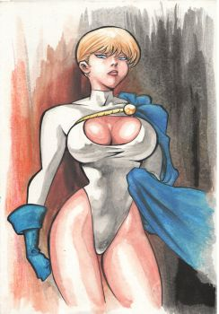 Powergirl Watercolor by AllPat