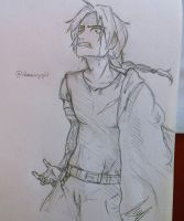Edward Elric FMA Sketch by Idamessygirl