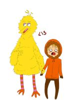 KennyxBigbird by Penguin-cookie