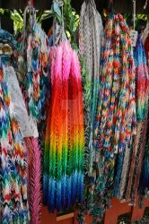 Colorful Origami Cranes by bthangover