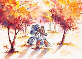 Knockout and Breakdown: Autumn Woods by The-Starhorse