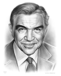 Lorne Greene - Sketch of the Day by gregchapin