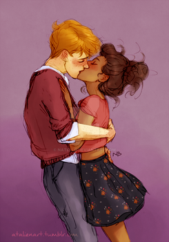 Ron and Hermione by Natello