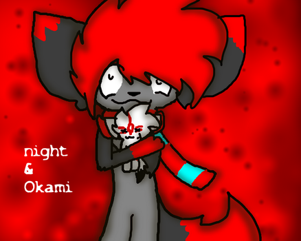 Okami and Night :RQ: by Bubblesdaboss