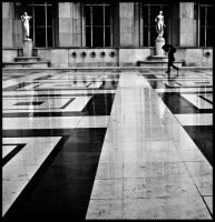 Man in rain, Paris by Guy-with-the-guitar