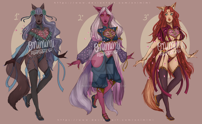 |CLOSED| ADOPTABLES + Sketches: Blooming Heart by Onimimi