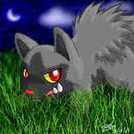 Poochyena- The Stalker by crayon-chewer