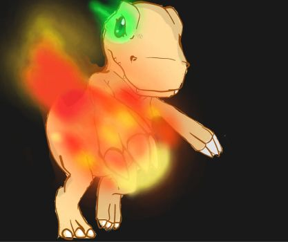Fire claw Agumon by pacobird1