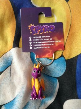 Spyro The Dragon Keyring Figure by DazzyADeviant