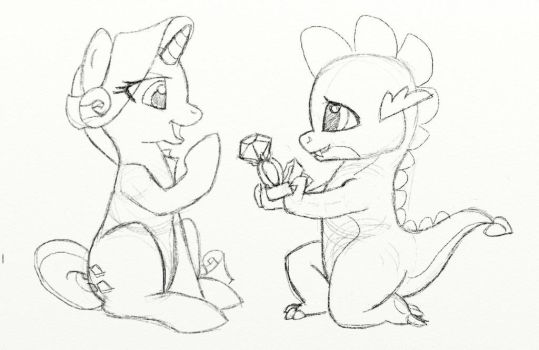 The Proposal Sketch by HuckleberryPony