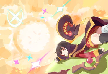 Megumin Good Job!! by Phibonnachee
