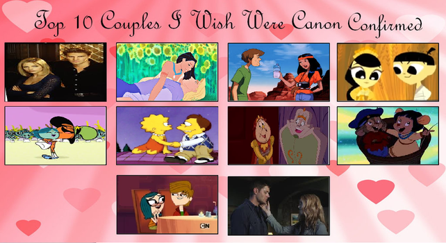 Top 10 Couples That Should be Canon by Detective88