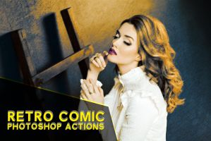 3 Free Retro Comic Action Pack by symufa