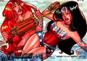 thundra and wonder woman puzzle APs by Peng-Peng