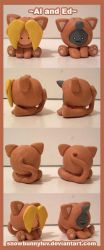 Sculpture- Ed and Al Kitties by snowbunnyluv