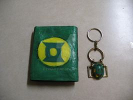 Green Lantern Wallet and Key Chain Set by LyraAlluse
