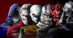 sith lords colored version by arktiari