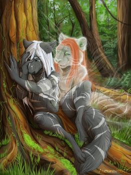 Mother's Tree [Commission] by Aunumwolf42