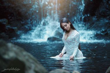 At the waterfall with Ivana by gestiefeltekatze