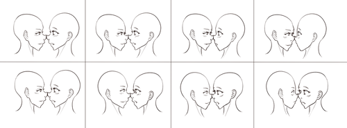 'Horizontal nose rubbing' study (by cyberbubble99) by TheRealCommissioner