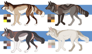 Natural wolf adoptables open by ClimbAdopts