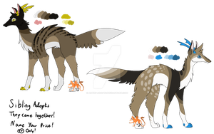 Monster Canine Siblings NYP - Points - CLOSED by Artzy-Adopts